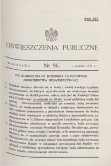 Obwieszczenia Publiczne. R.21, № 96 (1 grudnia 1937)