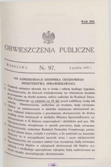 Obwieszczenia Publiczne. R.21, № 97 (4 grudnia 1937)