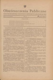 Obwieszczenia Publiczne : dodatek do Dziennika Urzędowego Ministerstwa Sprawiedliwości. 1948, nr 21 (23 marca)