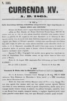 Currenda. 1865, kurenda15  PDF 