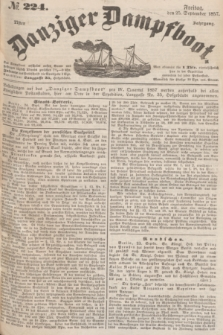 Danziger Dampfboot. Jg.27, № 224 (25 September 1857)