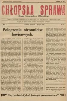 Chłopska Sprawa : organ Stronnictwa Chłopskiego : tygodnik poświęcony sprawom politycznym, oświatowym i gospodarczym. 1929, nr8 |PDF|