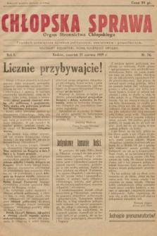 Chłopska Sprawa : organ Stronnictwa Chłopskiego : tygodnik poświęcony sprawom politycznym, oświatowym i gospodarczym. 1929, nr24  PDF 