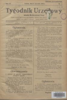 Tygodnik Urzędowy miasta Królewskiej Huty.R.32, nr 1 (9 stycznia 1932)