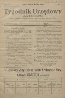 Tygodnik Urzędowy miasta Królewskiej Huty.R.32, nr 2 (16 stycznia 1932)