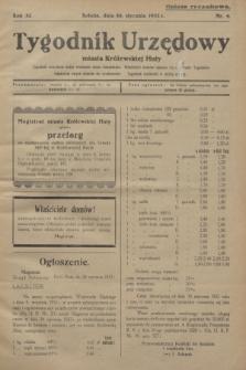 Tygodnik Urzędowy miasta Królewskiej Huty.R.32, nr 4 (30 stycznia 1932)