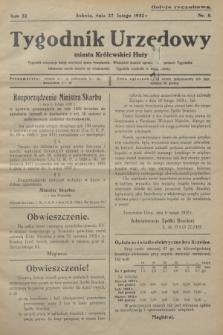 Tygodnik Urzędowy miasta Królewskiej Huty.R.32, nr 8 (27 lutego 1932)