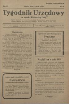 Tygodnik Urzędowy na miasto Królewską Hutę.R.29, nr 18 (4 maja 1929)