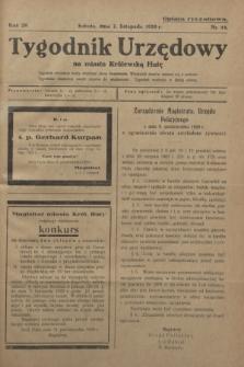 Tygodnik Urzędowy na Miasto Królewską Hutę.R.29, nr 44 (2 listopada 1929)