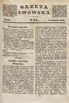 Gazeta Lwowska. 1843, nr 91