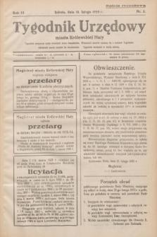 Tygodnik Urzędowy miasta Królewskiej Huty.R.33, nr 5 (18 lutego 1933)