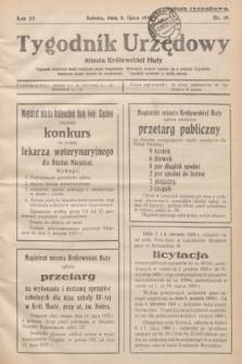 Tygodnik Urzędowy miasta Królewskiej Huty.R.33, nr 19 (8 lipca 1933)