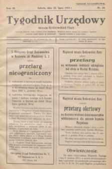 Tygodnik Urzędowy miasta Królewskiej Huty.R.33, nr 20 (22 lipca 1933)