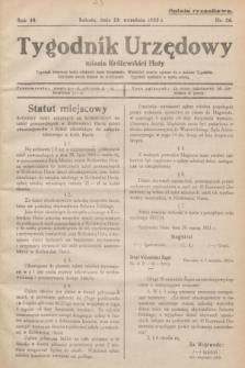 Tygodnik Urzędowy miasta Królewskiej Huty.R.33, nr 26 (23 września 1933)