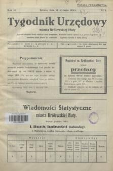Tygodnik Urzędowy miasta Królewskiej Huty.R.31, nr 1 (10 stycznia 1931)