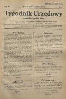 Tygodnik Urzędowy miasta Królewskiej Huty.R.31, nr 3 (24 stycznia 1931)
