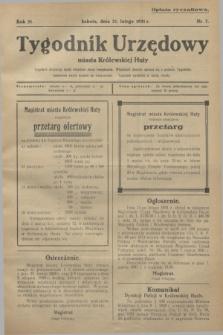 Tygodnik Urzędowy miasta Królewskiej Huty.R.31, nr 7 (21 lutego 1931)