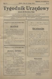 Tygodnik Urzędowy miasta Królewskiej Huty.R.31, nr 8 (28 lutego 1931)