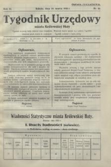 Tygodnik Urzędowy miasta Królewskiej Huty.R.31, nr 10 (14 marca 1931)