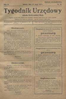 Tygodnik Urzędowy miasta Królewskiej Huty.R.31, nr 20 (23 maja 1931)