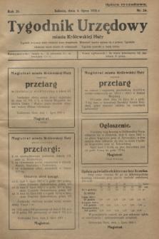 Tygodnik Urzędowy miasta Królewskiej Huty.R.31, nr 26 (4 lipca 1931)