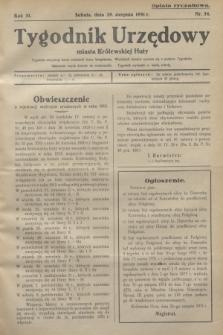 Tygodnik Urzędowy miasta Królewskiej Huty.R.31, nr 34 (29 sierpnia 1931)