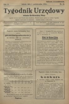 Tygodnik Urzędowy miasta Królewskiej Huty.R.31, nr 39 (3 października 1931)