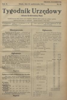 Tygodnik Urzędowy miasta Królewskiej Huty.R.31, nr 42 (24 października 1931)