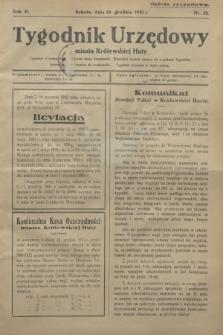 Tygodnik Urzędowy miasta Królewskiej Huty.R.31, nr 50 (19 grudnia 1931)