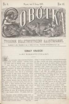 Sobótka : tygodnik belletrystyczny illustrowany. R.3, nr 6 (4 lutego 1871)