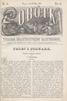 Sobótka : tygodnik belletrystyczny illustrowany. R.3, nr 21 (20 maja 1871)