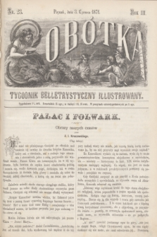 Sobótka : tygodnik belletrystyczny illustrowany. R.3, nr 23 (3 czerwca 1871)