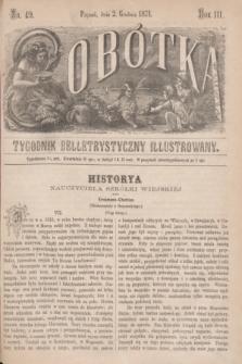 Sobótka : tygodnik belletrystyczny illustrowany. R.3, nr 49 (2 grudnia 1871)