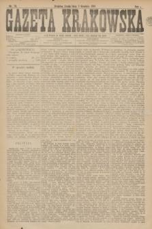 Gazeta Krakowska. R.1, nr 74 (7 grudnia 1881)