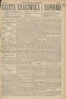 Gazeta Krakowska i Reforma. R.2, nr 228 (30 grudnia 1882)