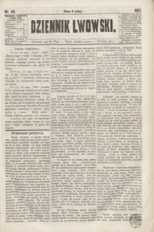 Dziennik Lwowski. [R.1], nr 49 (30 maja 1867)