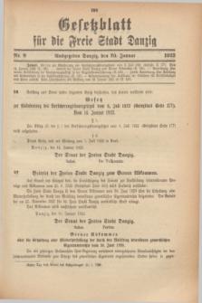 Gesetzblatt für die Freie Stadt Danzig.1923, Nr. 8 (20 Januar)