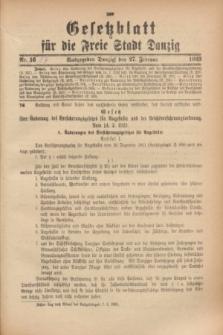 Gesetzblatt für die Freie Stadt Danzig.1923, Nr. 17 (27 Februar)