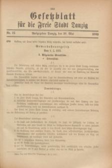 Gesetzblatt für die Freie Stadt Danzig.1923, Nr. 35 (16 Mai)