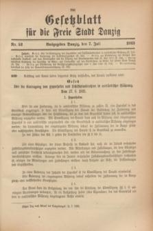 Gesetzblatt für die Freie Stadt Danzig.1923, Nr. 52 (7 Juli)