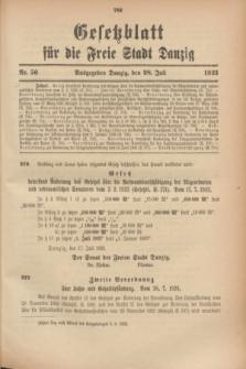 Gesetzblatt für die Freie Stadt Danzig.1923, Nr. 56 (28 Juli)