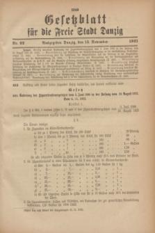 Gesetzblatt für die Freie Stadt Danzig.1923, Nr. 92 (13 November)
