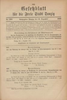 Gesetzblatt für die Freie Stadt Danzig.1923, Nr. 100 (15 Dezember)