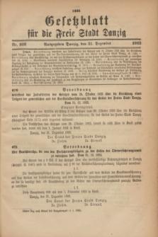 Gesetzblatt für die Freie Stadt Danzig.1923, Nr. 102 (31 Dezember)