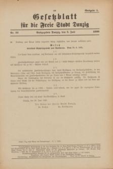 Gesetzblatt für die Freie Stadt Danzig.1926, Nr. 22 (3 Juli) - Ausgabe A