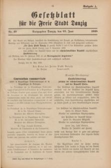 Gesetzblatt für die Freie Stadt Danzig.1928, Nr. 19 (23 Juni) - Ausgabe A