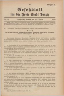 Gesetzblatt für die Freie Stadt Danzig.1928, Nr. 28 (10 October) - Ausgabe A