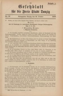 Gesetzblatt für die Freie Stadt Danzig.1928, Nr. 32 (31 Oktober) - Ausgabe A