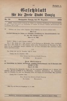 Gesetzblatt für die Freie Stadt Danzig.1929, Nr. 30 (18 Dezember) - Ausgabe A