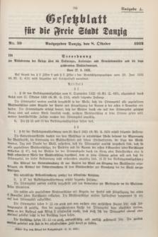 Gesetzblatt für die Freie Stadt Danzig.1932, Nr. 59 (8 Oktober) - Ausgabe A